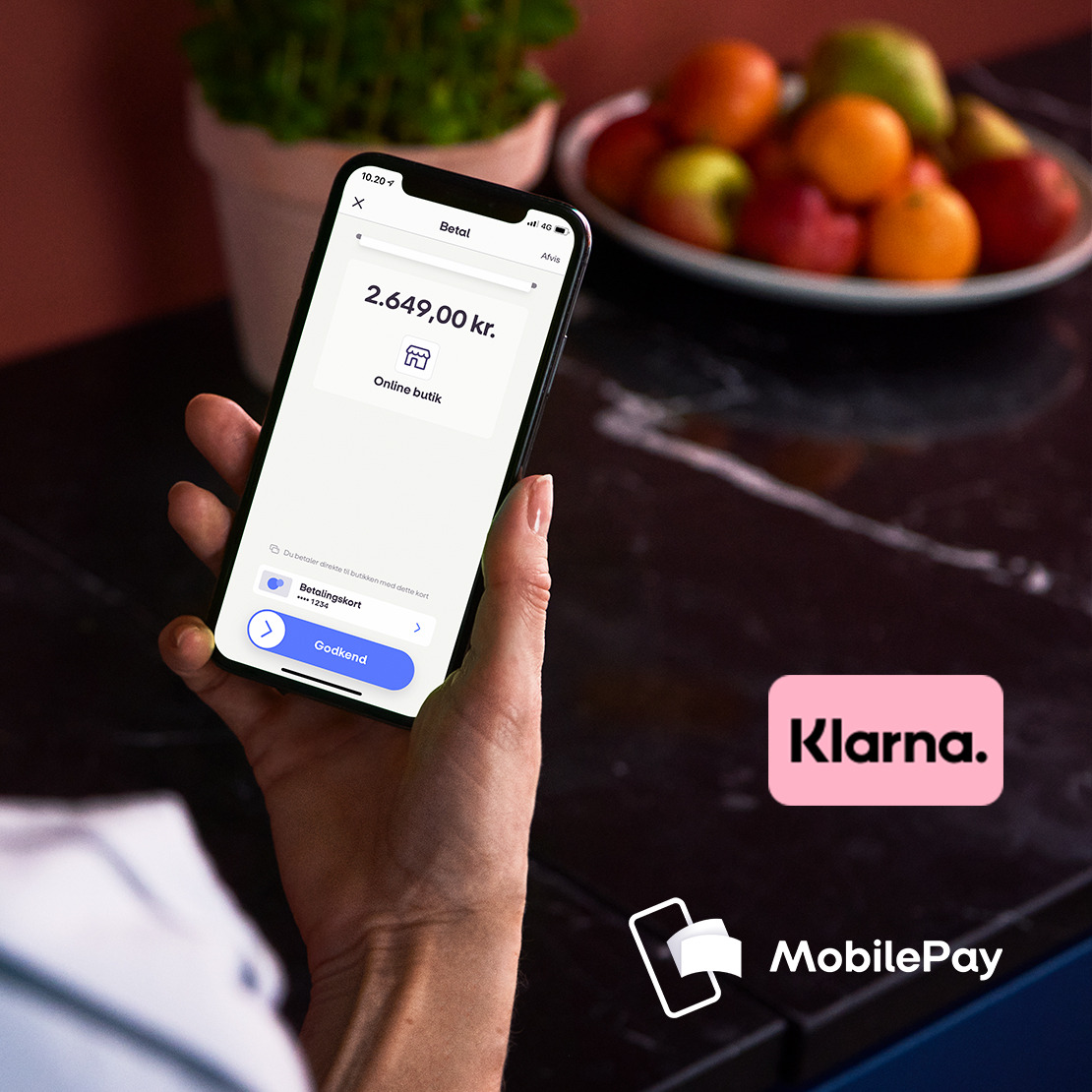 "Billede til nyheden ""MobilePay to enter partnership with Klarna""."